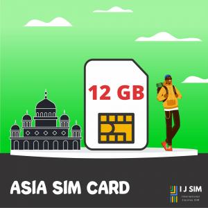 I J SIM ASIA 6 GB Data SIM Card for 10 days