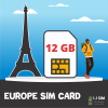 I J SIM EUROPE 12 GB Data SIM Card for 60 days
