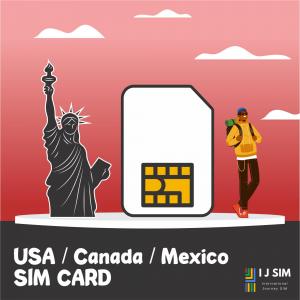 I J SIM USA Canada mexico SIM Card