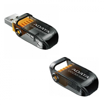 I J SIM ADATA UD230 USB 2.0 Memory Pen, Capless, Foldable, Dust, Water & Shock Resistant