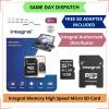 I J SIM Integral Memory 32 GB MicroSD Card with Adapter