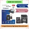 I J SIM Integral Memory 64 GB MicroSD Card with Adapter