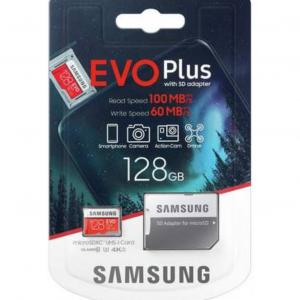 I J SIM Samsung Evo Plus Micro SD Card 128GB with Adapter