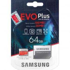 I J SIM Samsung Evo Plus Micro SD Card 64GB with Adapter